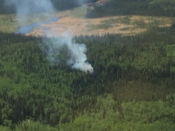 Troy - wildfire in Peace River area