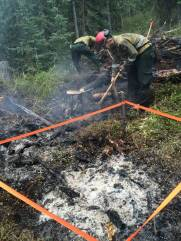 This abandoned campfire turned into a wildfire - August 20, 2015