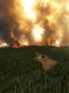 Wildfire in Cold Lake Air Weapons Range