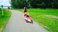 Heading out to kayak at Miquelon Lake Provincial Park