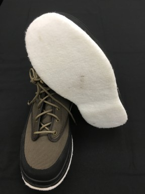 Felt soled wading boots are not recommended because the felt can trap microscopic organisms. If you can't do without felt soled wading boots consider having a dedicated set and only using them in one waterbody.
